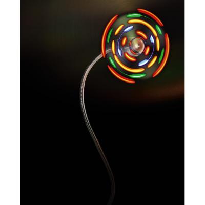 LED Sound USB Ventilátor Színes LED Világítással